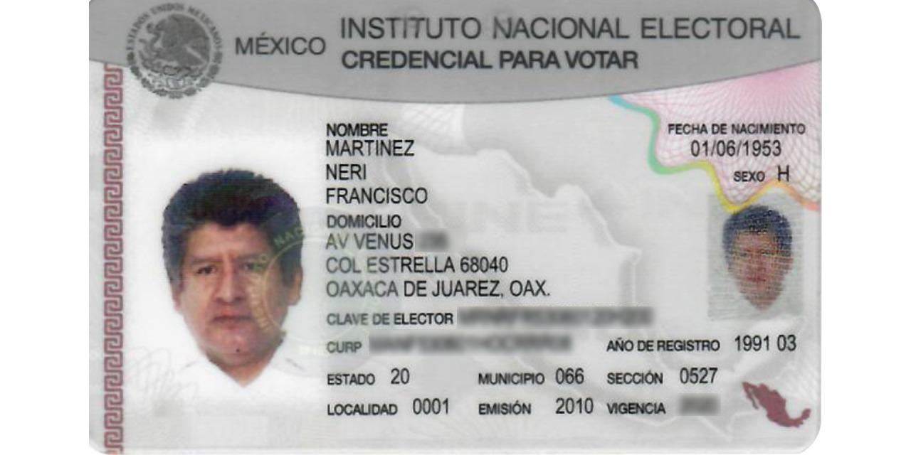 Martínez Neri cuenta con credencial de elector de Oaxaca de Juárez | El Imparcial de Oaxaca