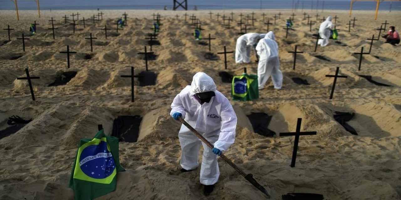 25 mil 200 nuevos casos de covid son reportados en Brasil en 24 horas | El Imparcial de Oaxaca