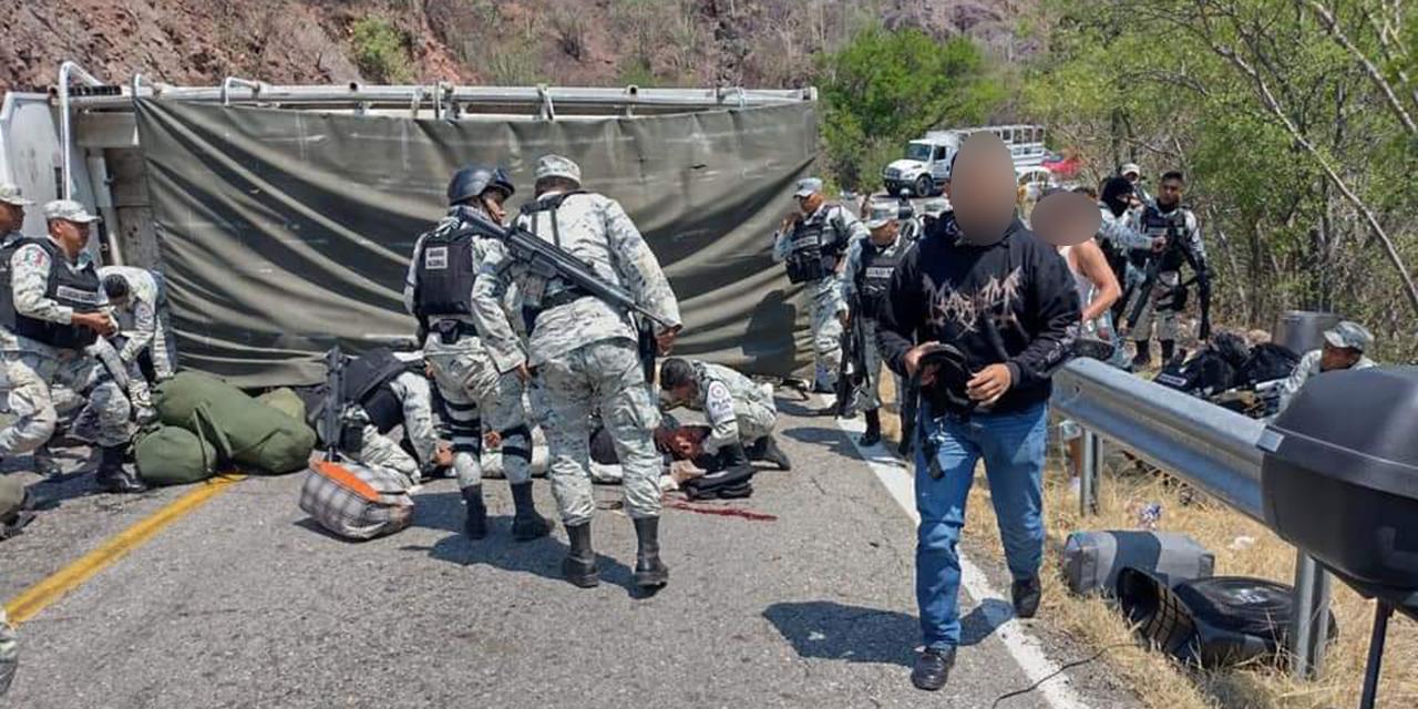 Vuelcan elementos de  la Guardia Nacional en carretera a Oaxaca   El Imparcial de Oaxaca