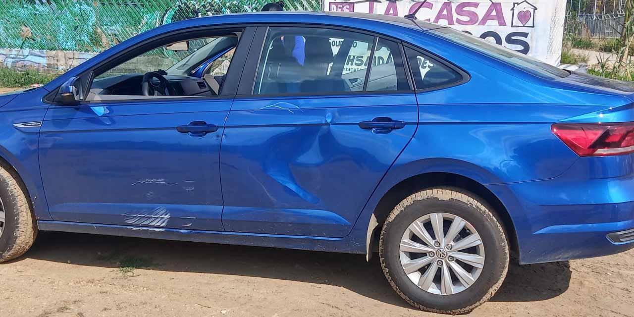 Repartidor se impacta contra auto en Atzompa   El Imparcial de Oaxaca
