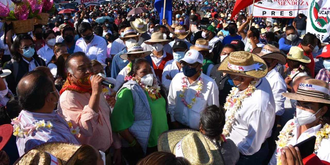 Javier Villacaña asegura triunfo electoral en el Mercado de Abasto | El Imparcial de Oaxaca