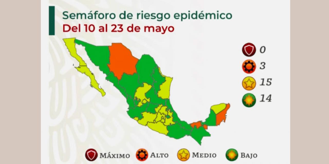 Semáforo verde para 14 estados de la Republica   El Imparcial de Oaxaca