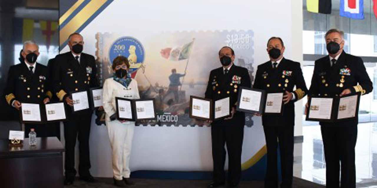 Presentan timbre postal de la Semar por 200 años de la Armada de México   El Imparcial de Oaxaca