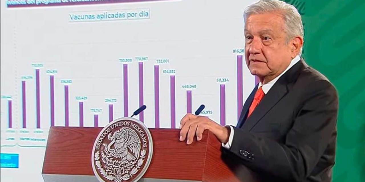 Celebra López Obrador el millón de vacunas aplicadas en un día | El Imparcial de Oaxaca