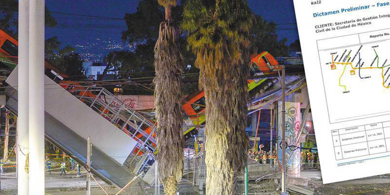 Falla estructural, la causa del desplome en L12 del Metro, según dictamen | El Imparcial de Oaxaca