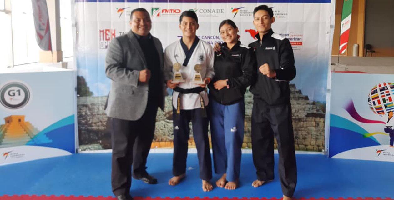 William Arroyo consigue el oro en el Open México de Taekwondo 2021