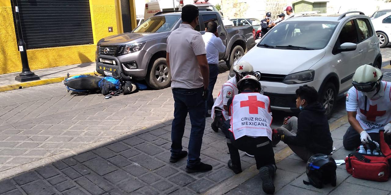 Choque en el centro de Oaxaca deja dos lesionados | El Imparcial de Oaxaca