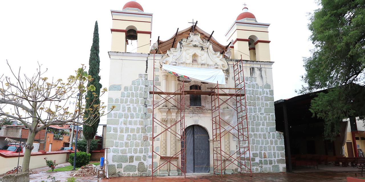 A 3 años de los sismos, restauran parroquia de Santa Cruz Amilpas | El Imparcial de Oaxaca