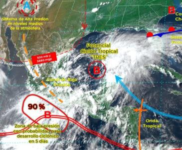 Alertan por lluvias torrenciales en Oaxaca