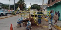 Fugas y socavones afectan vialidades de Salina Cruz