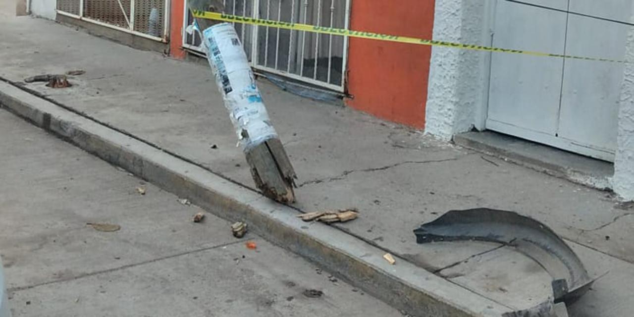 Tumba un poste en accidente vial en Ciudad Ixtepec   El Imparcial de Oaxaca