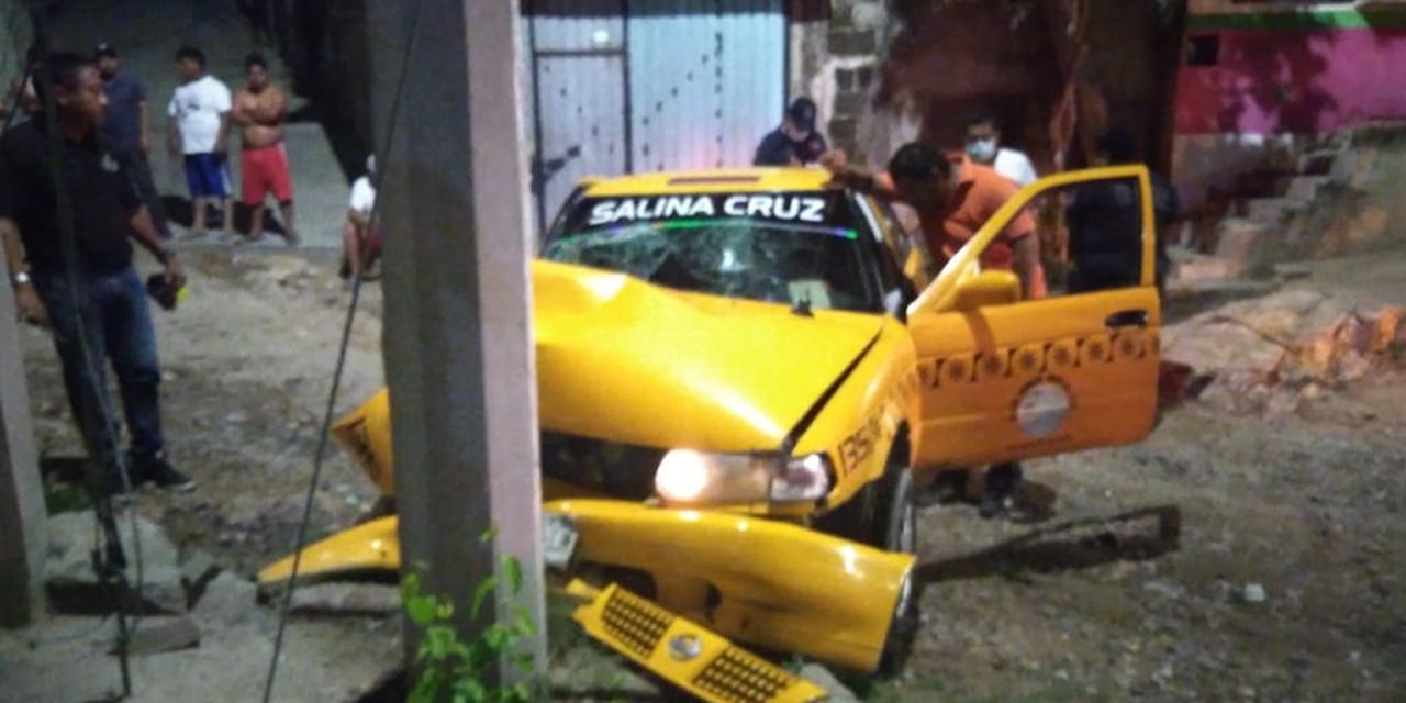 Tras accidente, dueño de taxi en Salina Cruz se niega a cubrir gastos   El Imparcial de Oaxaca