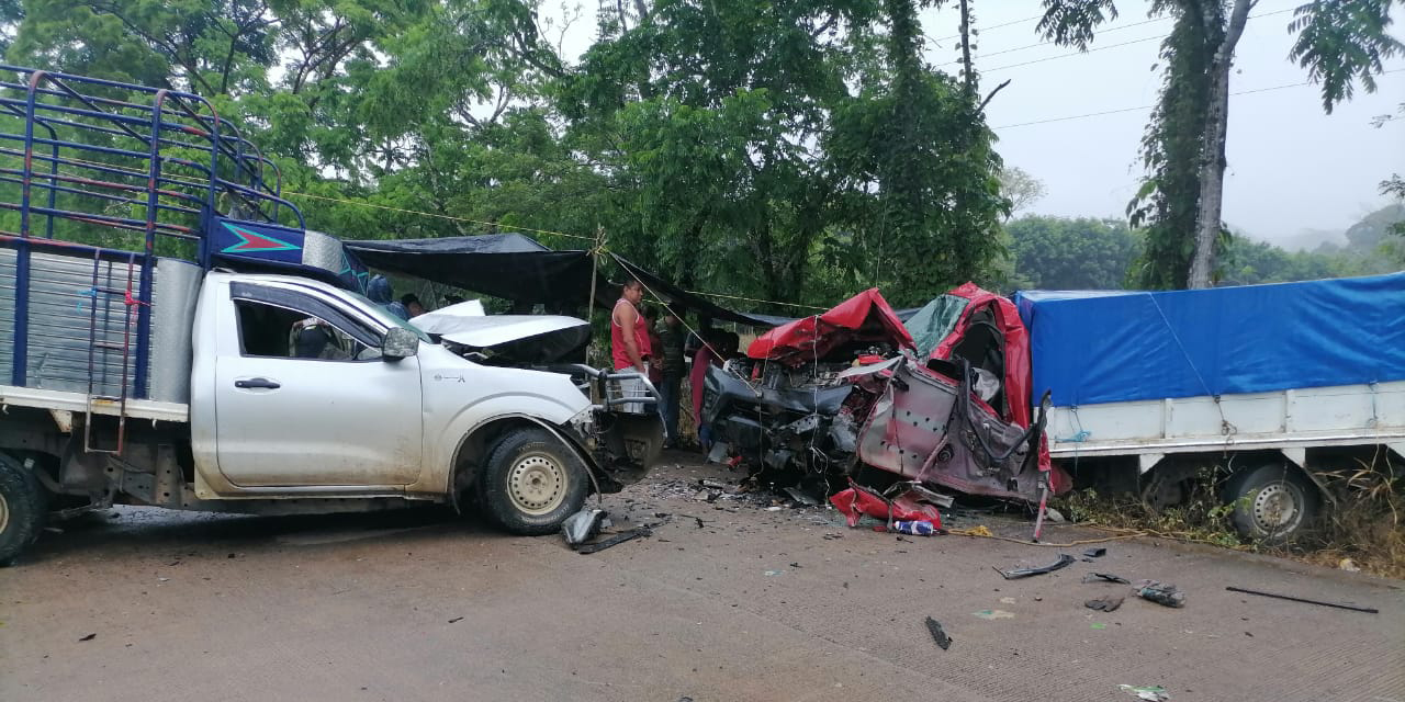 Fuerte accidente deja 2 muertos en ruta a Matías Romero | El Imparcial de Oaxaca