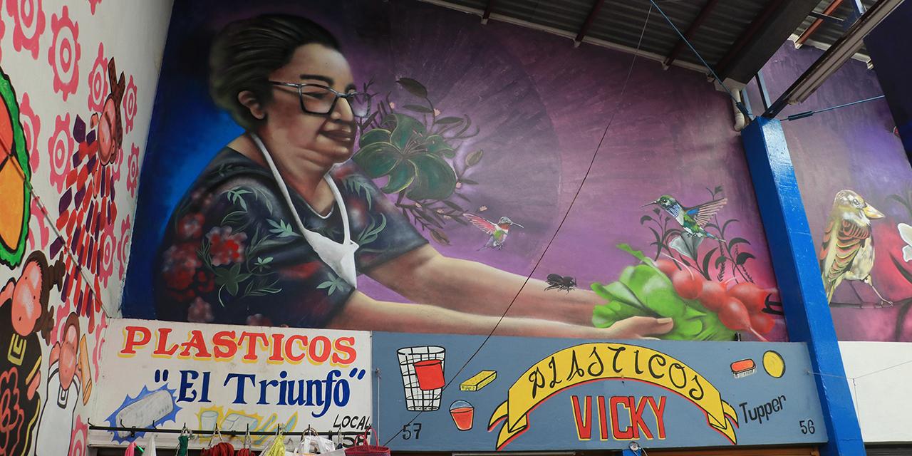 Llevan el arte a muros del mercado Víctor Bravo Ahuja   El Imparcial de Oaxaca