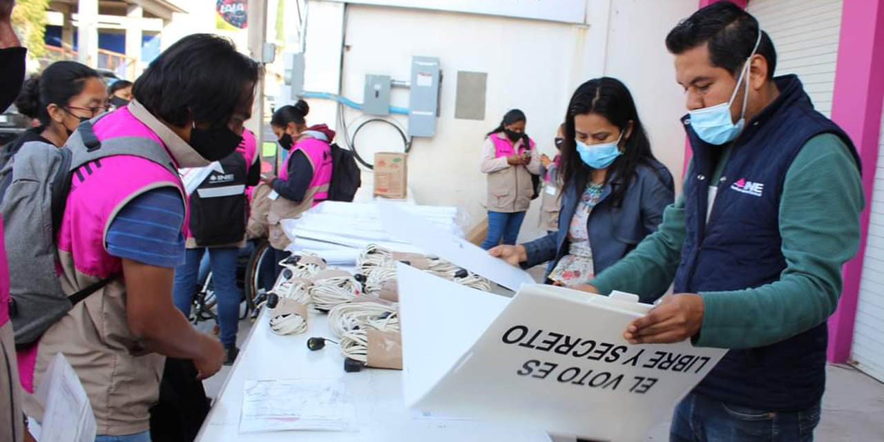 Junta Distrital 03 del INE garantiza seguridad sanitaria   El Imparcial de Oaxaca