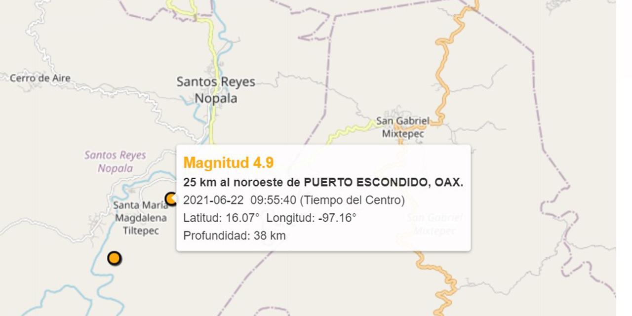 Tiembla en la Costa oaxaqueña; no se reportan daños | El Imparcial de Oaxaca