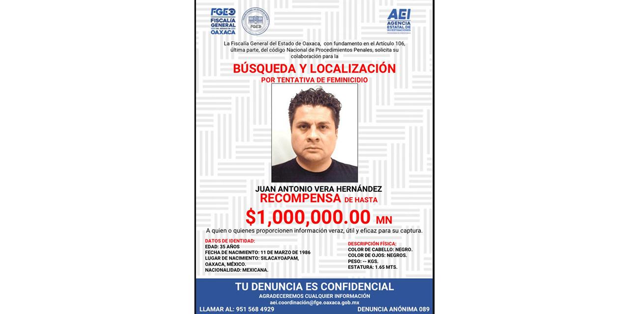Fiscalía ofrece un millón por hijo de Vera Carrizal | El Imparcial de Oaxaca