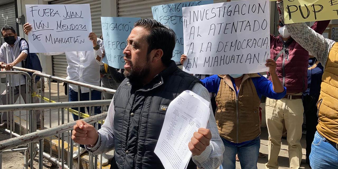 Edil electo de Miahuatlán de Porfirio Díaz denuncia intento de fraude electoral   El Imparcial de Oaxaca