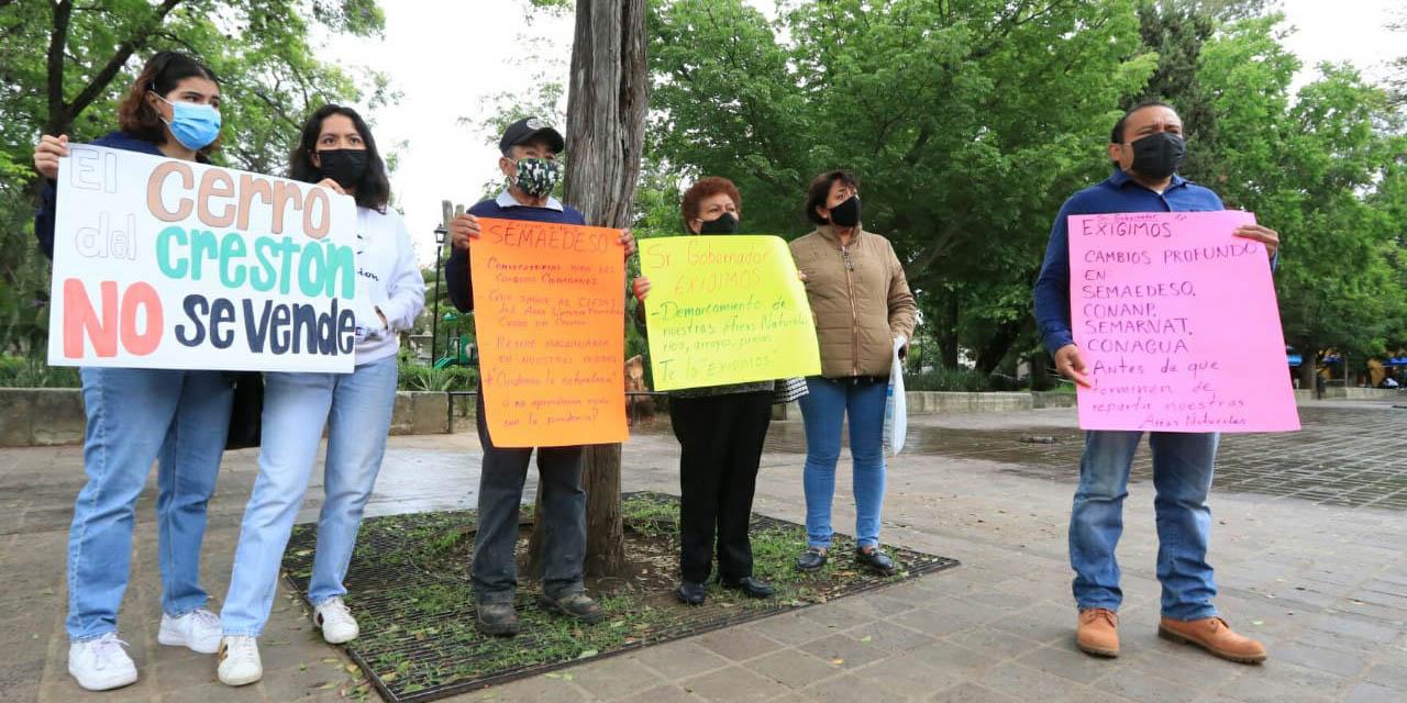 Vecinos y activistas exigen protección a áreas naturales de la zona conurbada de Oaxaca   El Imparcial de Oaxaca