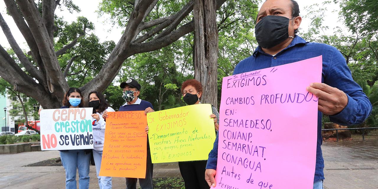 Exigen vecinos frenar invasión al Crestón y otras áreas naturales | El Imparcial de Oaxaca