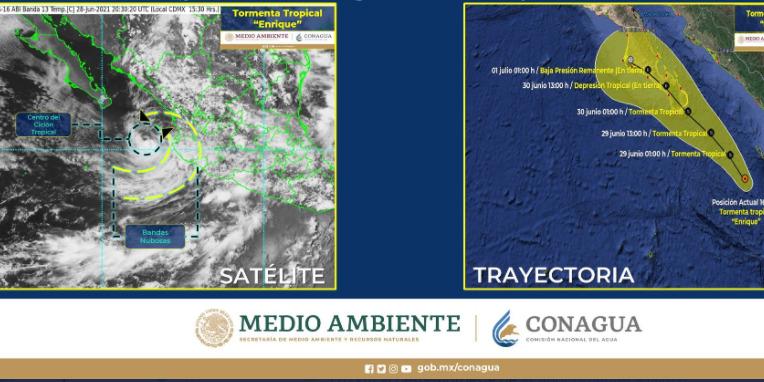 'Enrique' se debilita y se degrada a tormenta tropical | El Imparcial de Oaxaca