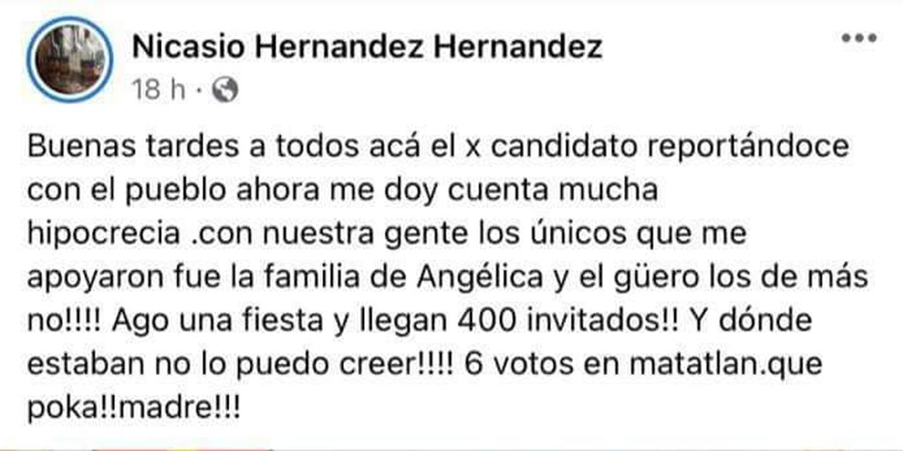 Candidato de Tlacolula recrimina porque no votaron por él | El Imparcial de Oaxaca