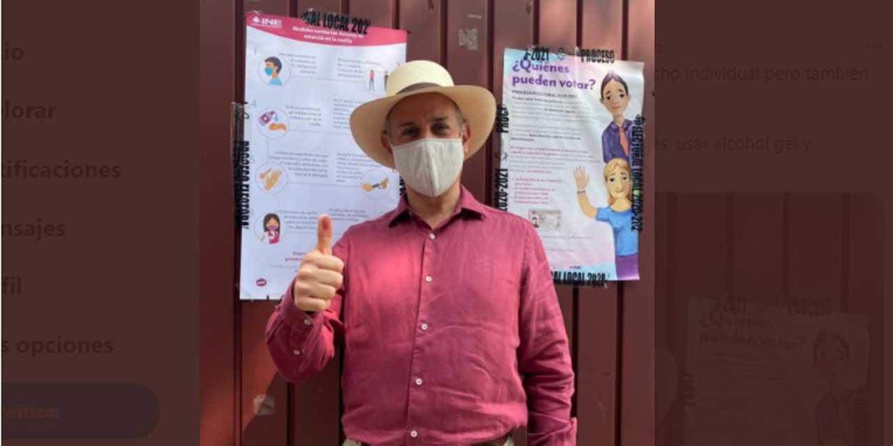 López-Gatell ejerce su derecho al voto y pide a electores cumplir con las medidas sanitarias   El Imparcial de Oaxaca