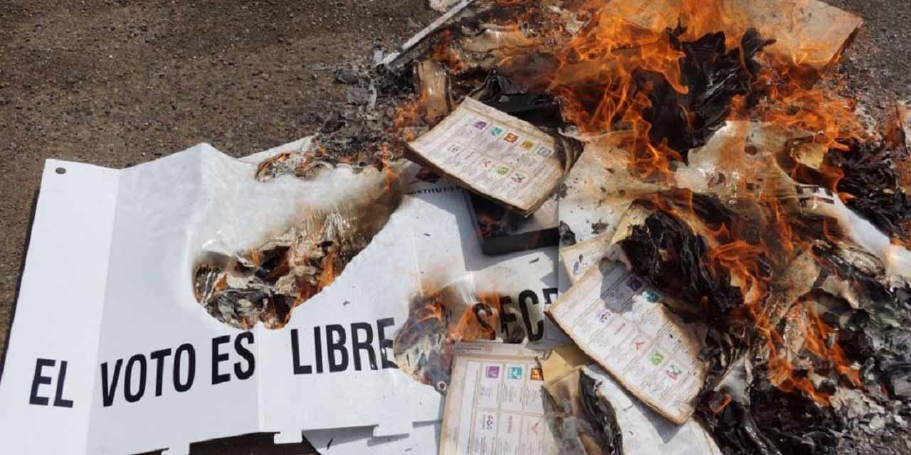 Roban y queman boletas   El Imparcial de Oaxaca