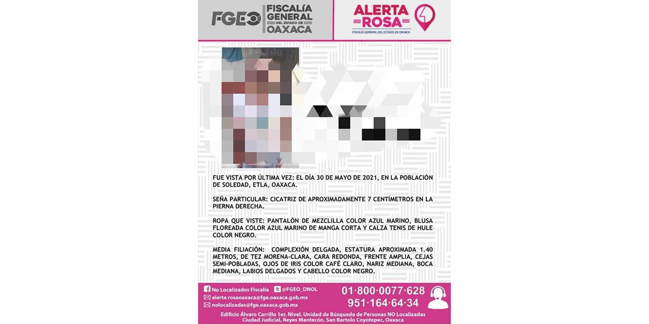 Localizan a menor que estaba desaparecida en Soledad Etla | El Imparcial de Oaxaca
