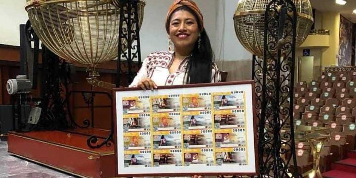 La soprano Mixe María Reyna, devela billete de la Lotería Nacional dedicado a la lengua ayuujk   El Imparcial de Oaxaca