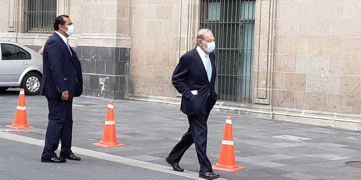 López Obrador recibe a Carlos Slim en Palacio Nacional | El Imparcial de Oaxaca