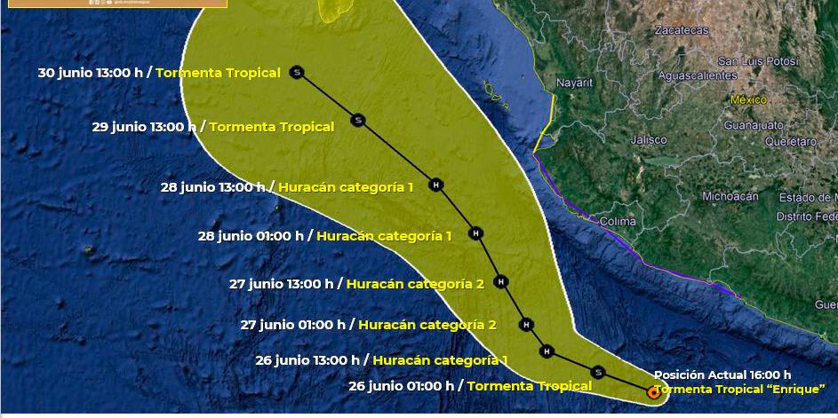 Tormenta 'Enrique' provocará intensas lluvias y pone en alerta a México | El Imparcial de Oaxaca