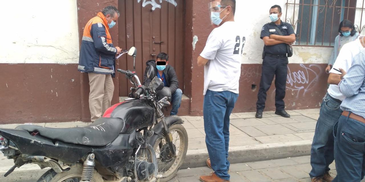 Choque por alcance deja un lesionado en el Centro de Oaxaca | El Imparcial de Oaxaca