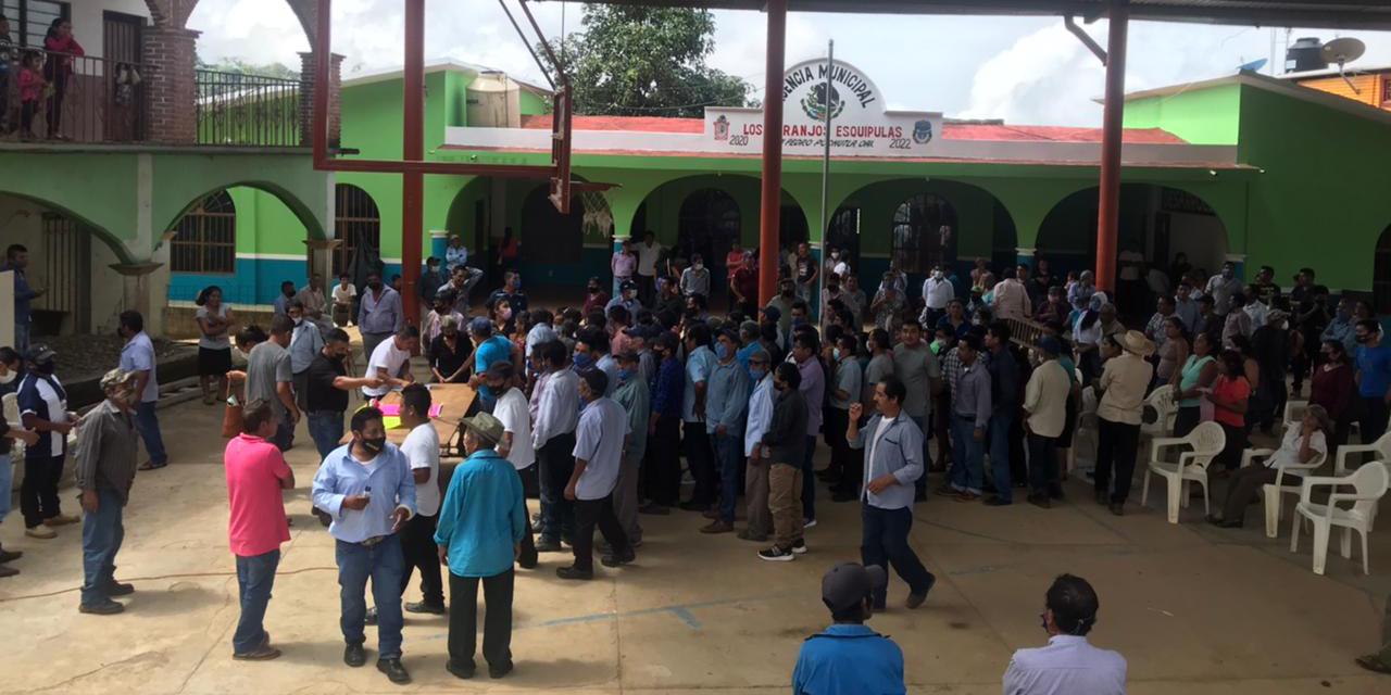 Suspenden Asamblea comunal de Los Naranjos Esquipulas   El Imparcial de Oaxaca