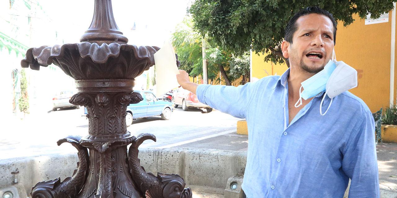 Denuncian daño en fuente IV Centenario   El Imparcial de Oaxaca