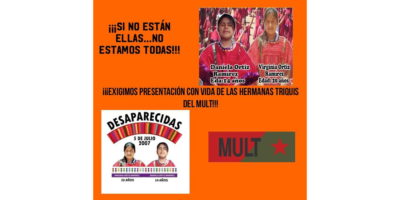 Preparan manifestación por desaparición forzada de las triquis Virginia y Daniela   El Imparcial de Oaxaca