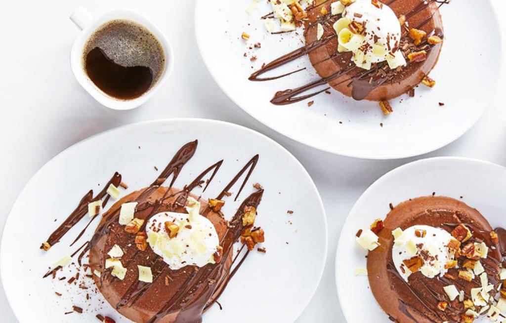 Flan de chocolatecon nuez y crema   El Imparcial de Oaxaca