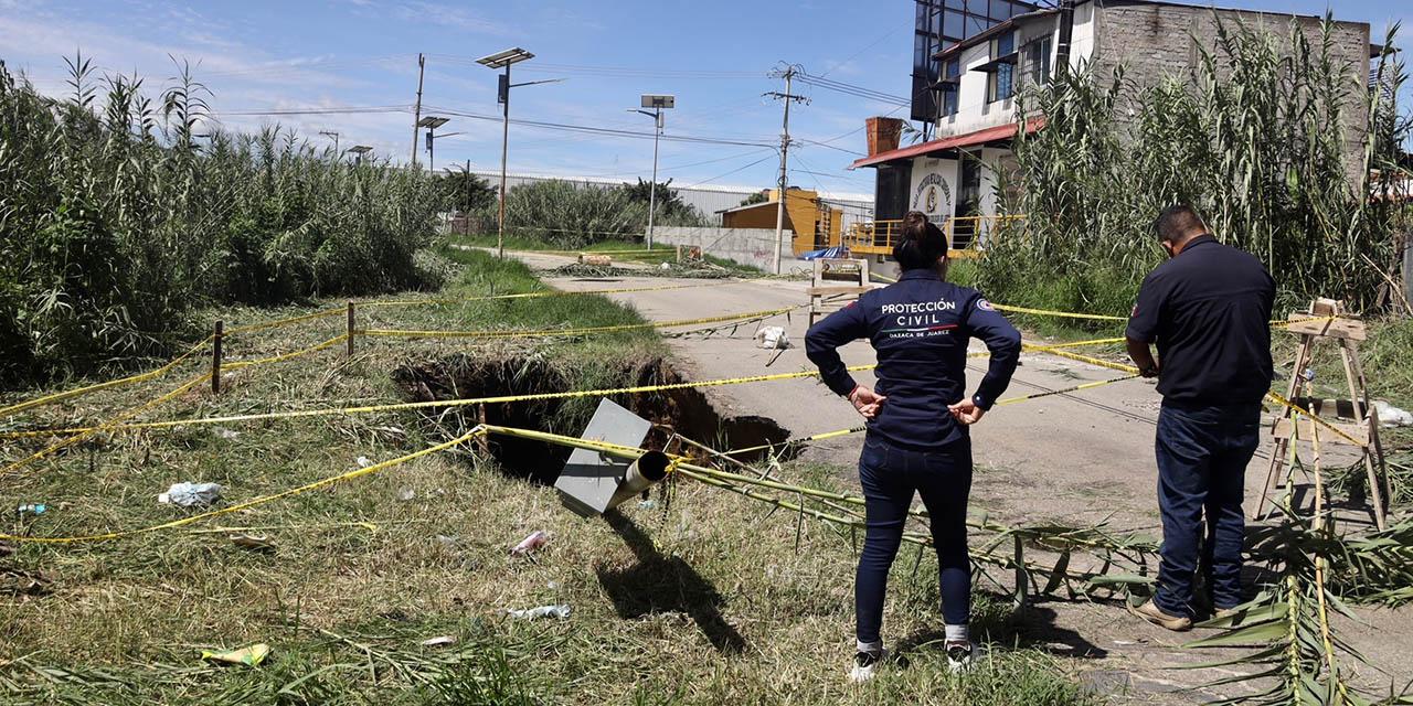 SAPAO aun debe atender 3 socavones en Oaxaca   El Imparcial de Oaxaca