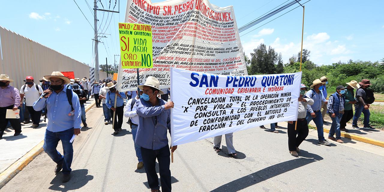 Exige San Pedro Quiatoni frenar la minería en su territorio | El Imparcial de Oaxaca