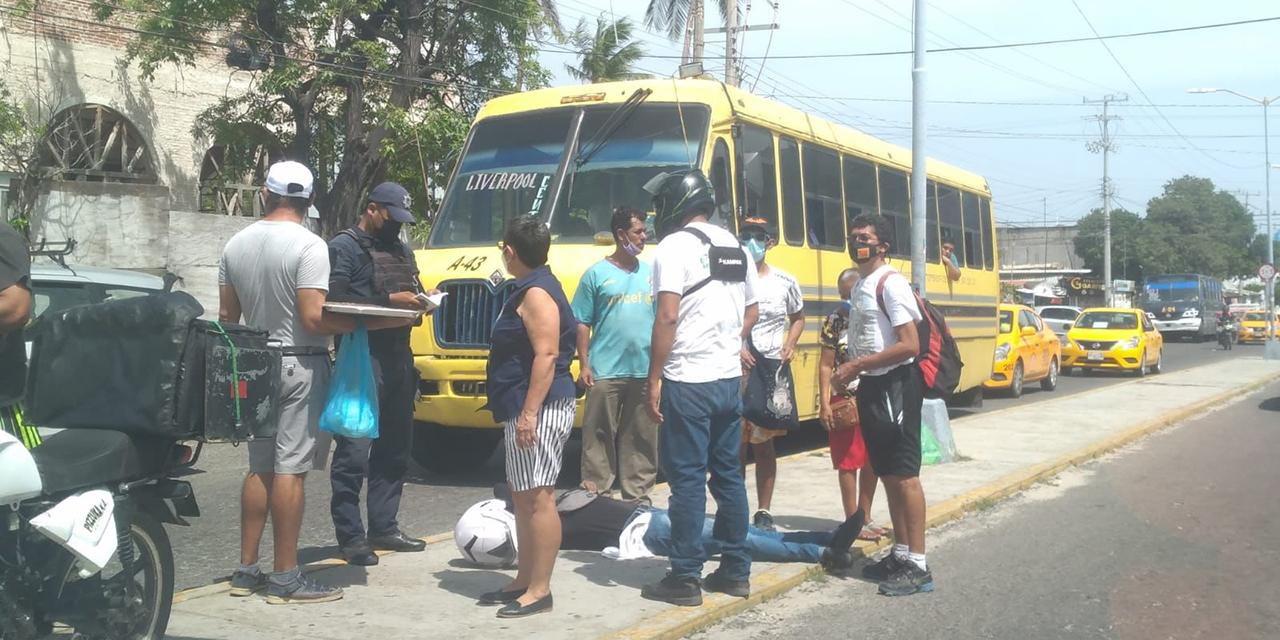 Percance automovilístico en Salina Cruz deja motociclista lesionado   El Imparcial de Oaxaca