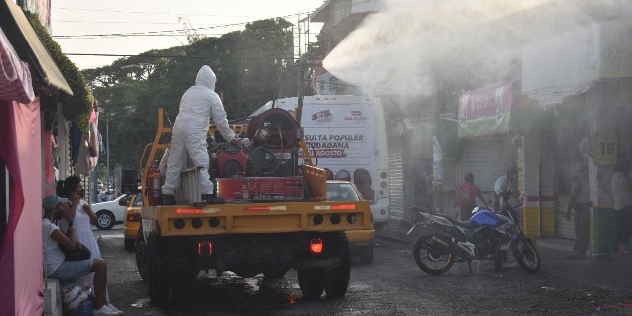 Sanitizan mercado de Salina Cruz | El Imparcial de Oaxaca