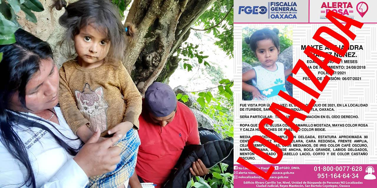 Niña de 2 años reportada como desaparecida, es encontrada en una cueva de Santa Cruz Itundujia   El Imparcial de Oaxaca