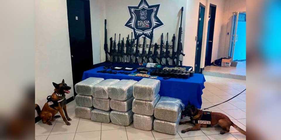 En Tamaulipas aseguran en casa de seguridad con arsenal y droga   El Imparcial de Oaxaca