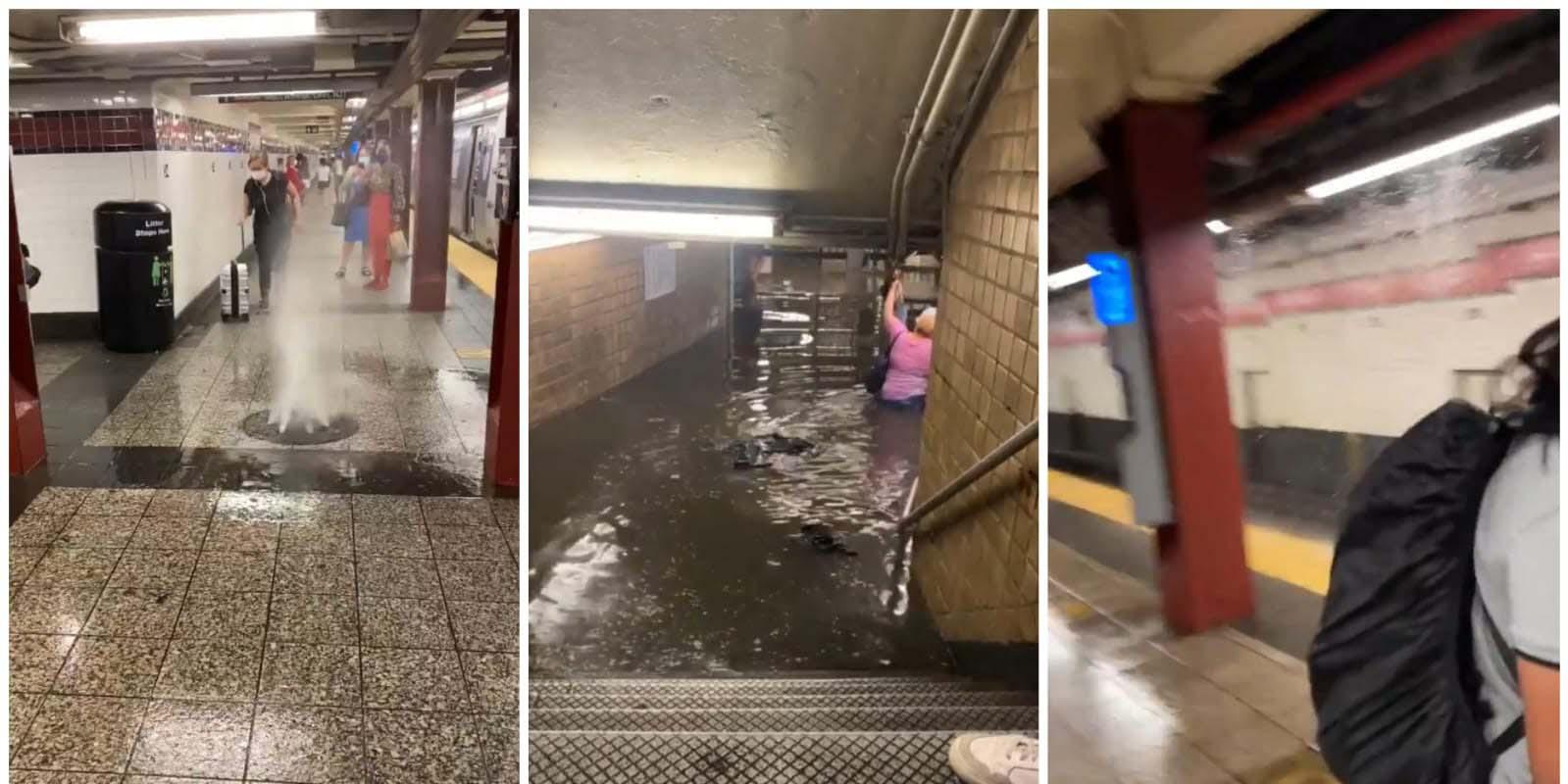 En New york, metro sufre inundaciones; hay cascadas en varias estaciones   El Imparcial de Oaxaca