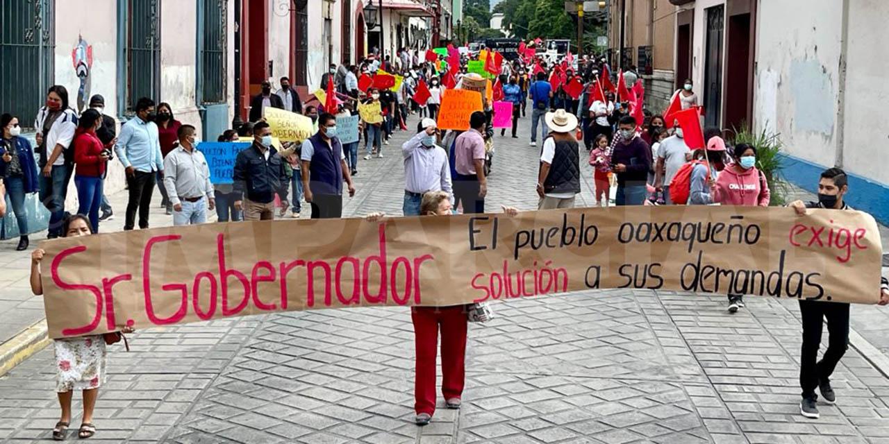 Por falta de atención a demandas Antorcha Campesina marcha en Oaxaca | El Imparcial de Oaxaca