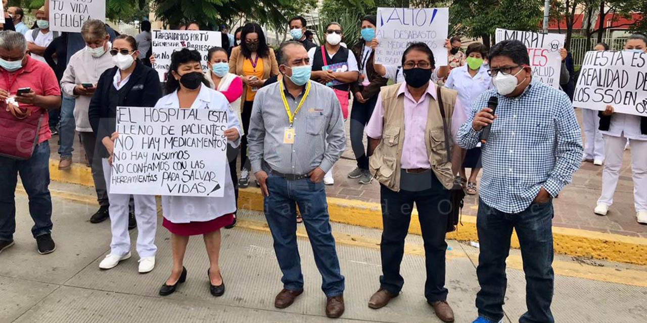 Ningún hospital está funcionando al 100%, hay desabasto y faltan insumos: SNTSA   El Imparcial de Oaxaca