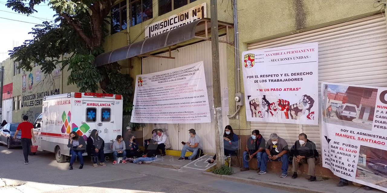 Retoman trabajadores de salud protestas en la Jurisdicción Sanitaria No. 1 | El Imparcial de Oaxaca