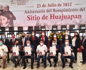 Conmemoran CCIX aniversario del Rompimiento del Sitio de Huajuapa