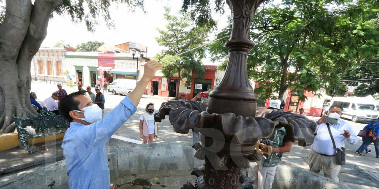Markoa denuncia daño patrimonial de la fuente del Mercado Cuarto Centenario