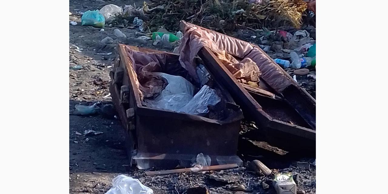 Abandonan féretro en basurero   El Imparcial de Oaxaca